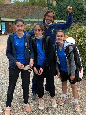 La squadra U 14 Femminile dopo la vittoria al CT Arezzo